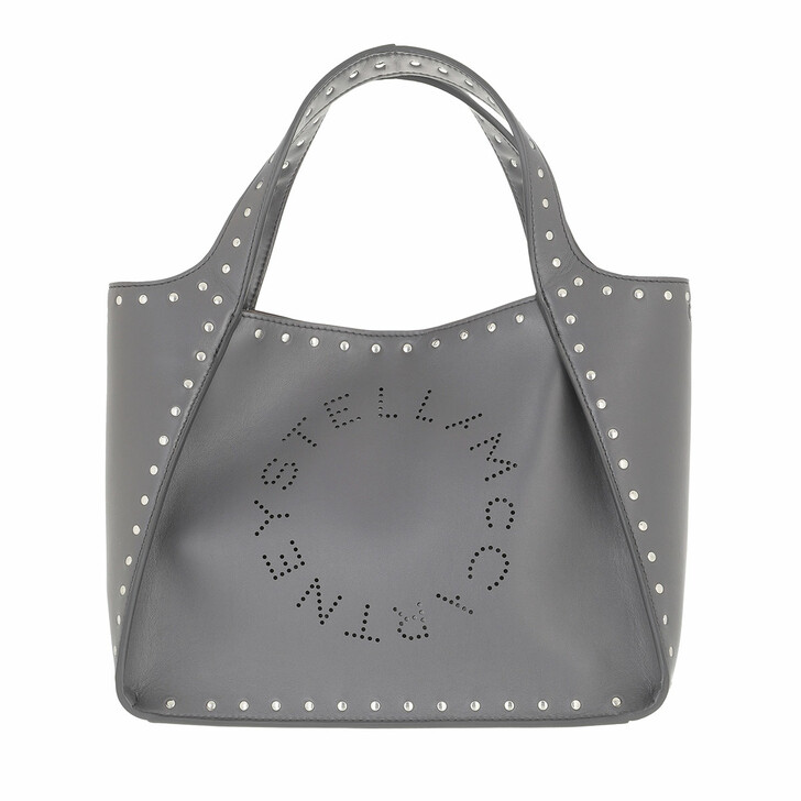 bags, Stella McCartney, Logo Handle Bag Slate Grey