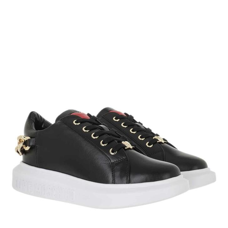 shoes, Love Moschino, Sneakerd Gomma40 Vitello Nero