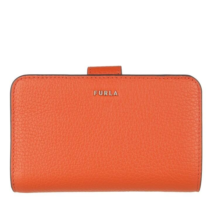 Geldbörse, Furla, Furla Babylon M Compact Wallet - Vitello St.Eracle Tangerine