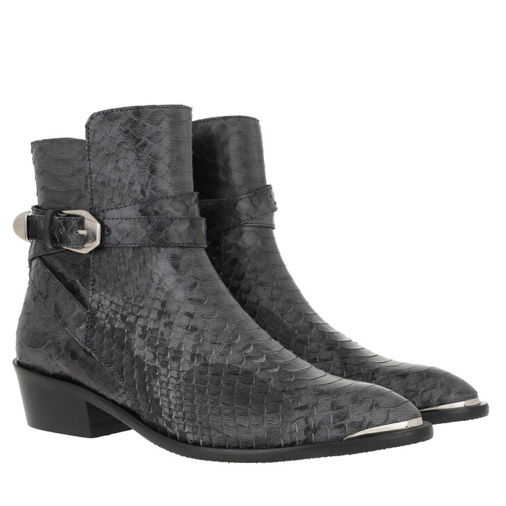 Schuh, Toral, Flat Suede Ankle Boots Negro