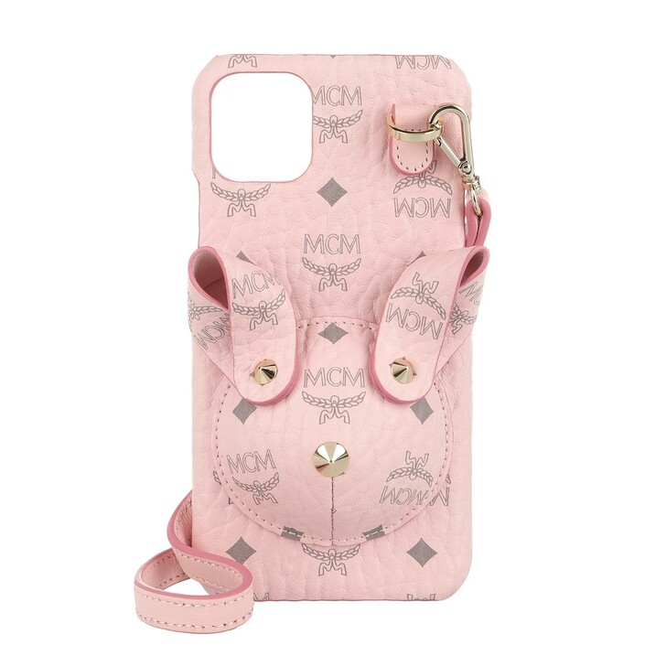 Smartphone/Tablet case (Case), MCM, Rabbit Iphone Case W Strap 11 Pro  Powder Pink