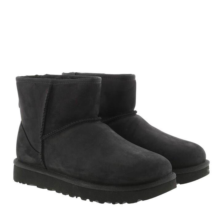 Schuh, UGG, W Classic Mini Leather Black