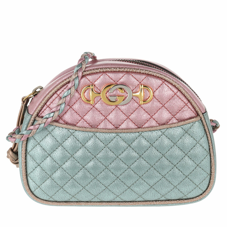 Handtasche, Gucci, Laminated Mini Bag Leather Pink/Blue