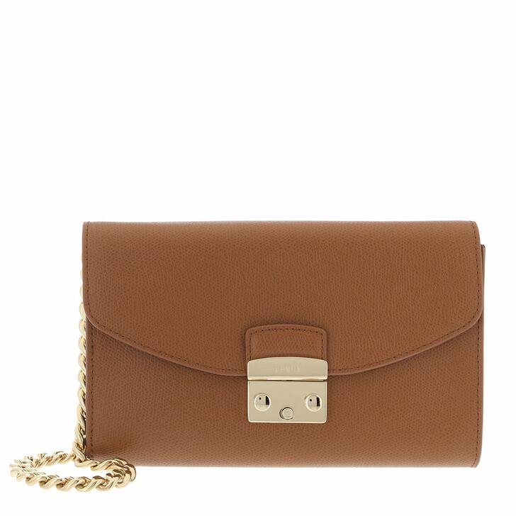 bags, Furla, Metropolis Envelope Cognac H