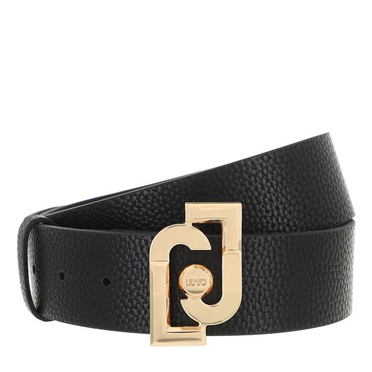 Gürtel, LIU JO, Logo Buckle Belt Black