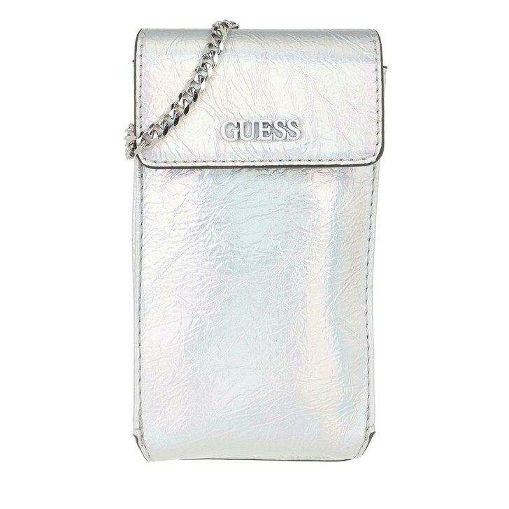 Handtasche, Guess, Picnic Chit Chat Iridescent Silver