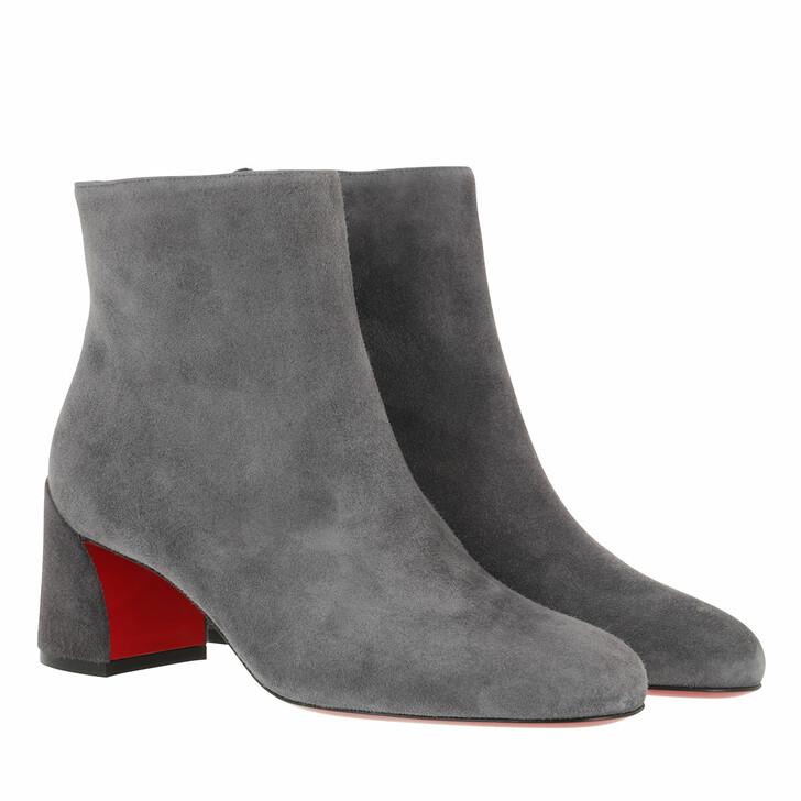 Schuh, Christian Louboutin, Turela 55 Boots Leather Smoky