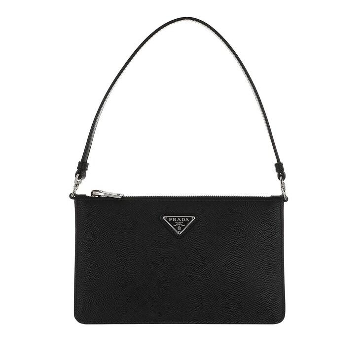 bags, Prada, Mini Saffiano Satchel Bag Black