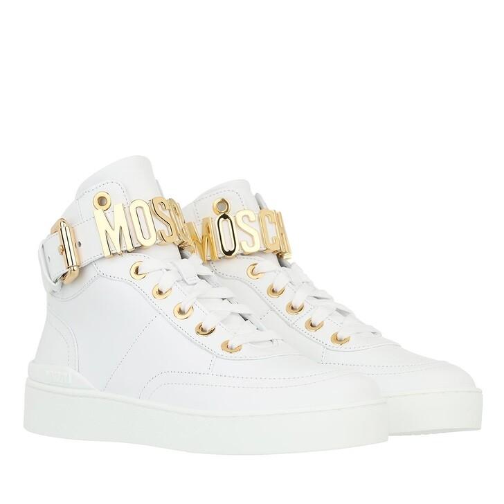 shoes, Moschino, Sneakerd Basket35 Vitello  Bianco