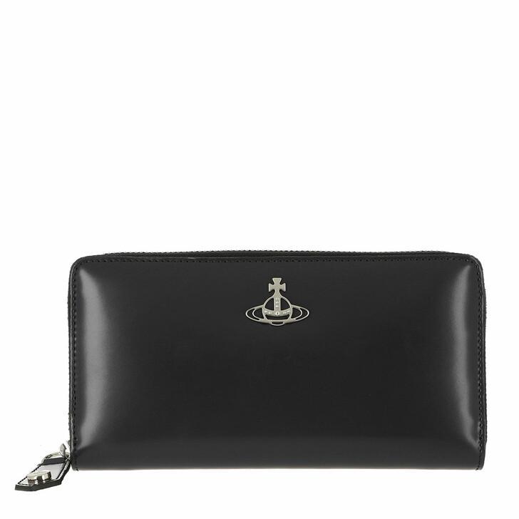 Geldbörse, Vivienne Westwood, Alice Zip Round Wallet Black