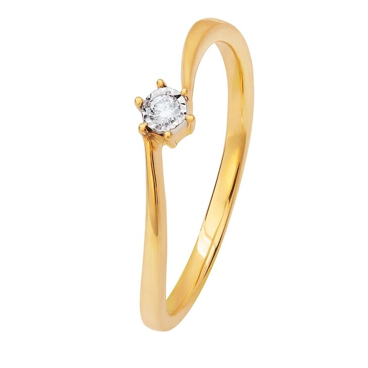 Ring, BELORO, 0,03ct Diamond Eternity Ring Yellow Gold