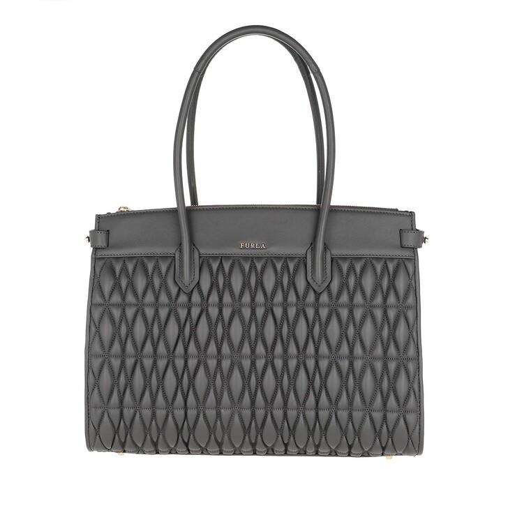 bags, Furla, Pin Cometa M Tote E/W Asfalto