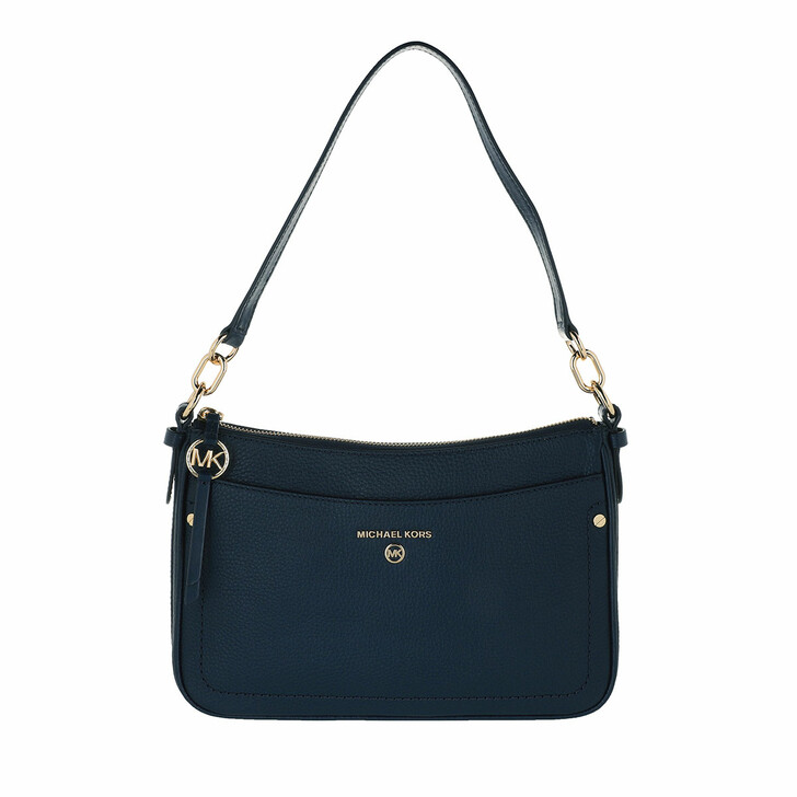 Handtasche, MICHAEL Michael Kors, Jet Set Charm Medium Pochette Leather Navy