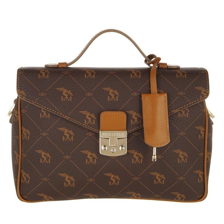 bags, Maison Mollerus, Marly Crossbody Bag Pecarus Soft Brown Gold