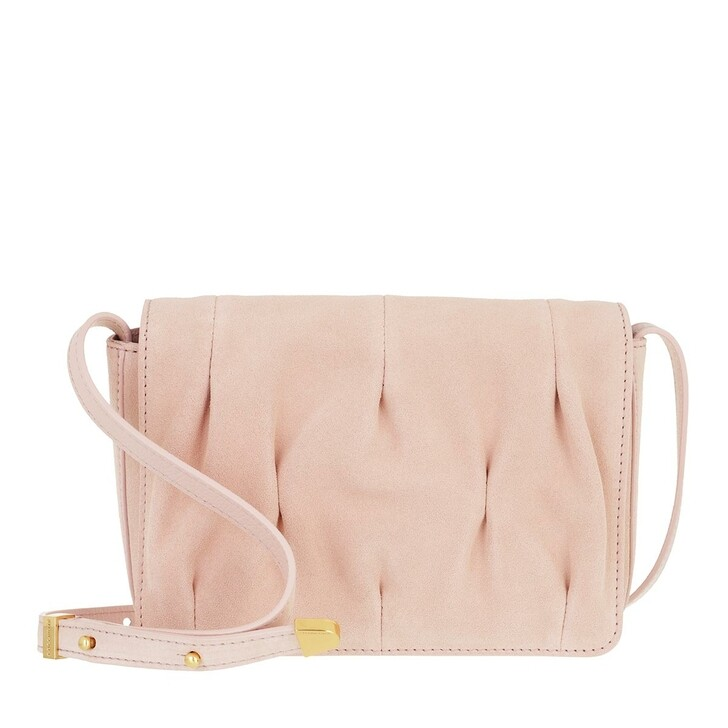 bags, Coccinelle, Handbag Suede Leather New Pink