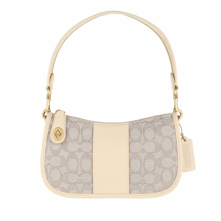 Handtasche, Coach, The Coach Originals Signature Jacquard Swinger Stone Ivory