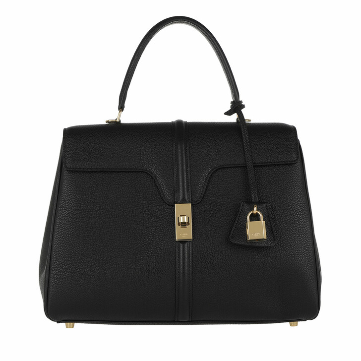Handtasche, Celine, 16 Bag Medium Grained Calfskin Medium Black