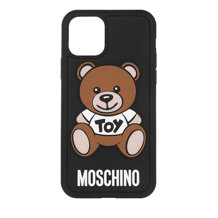 Smartphone/Tablet case (Case), Moschino, Toy Smartphone Case iPhone 11 Pro Fantasy Print Black