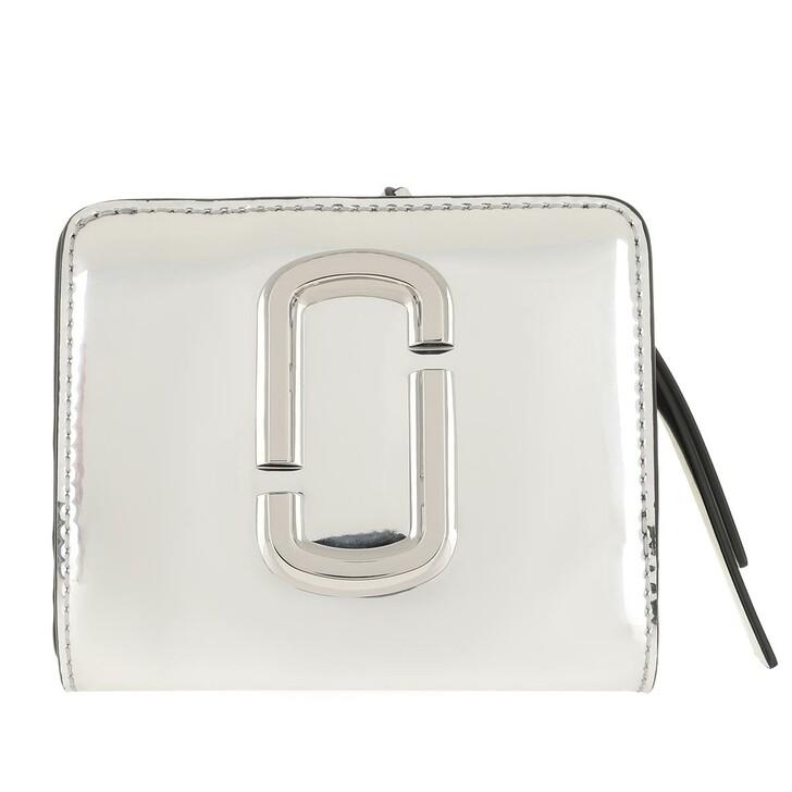Geldbörse, Marc Jacobs, Mini Compact Wallet Silver