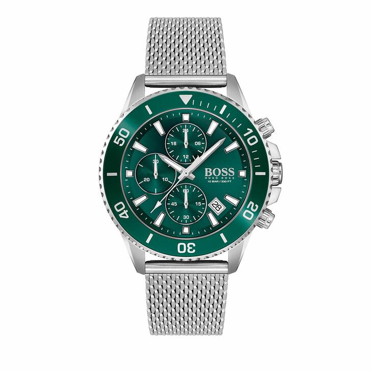 watches, Boss, Watch Admiral Silver Green