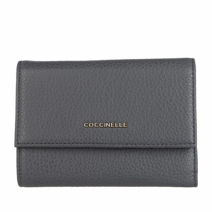 Geldbörse, Coccinelle, Wallet Grainy Leather Ash Grey