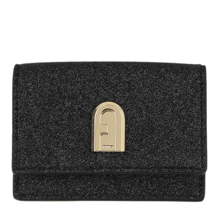 Geldbörse, Furla, 1927 Small Compact Trifold Wallet Black