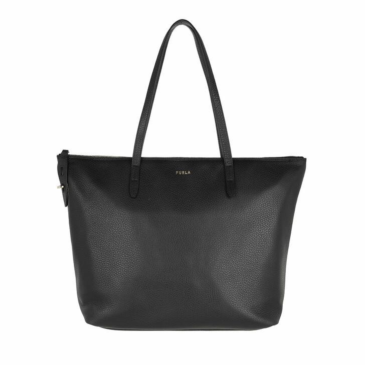 bags, Furla, Furla Net L Tote - Vitello St.Eracle Nero