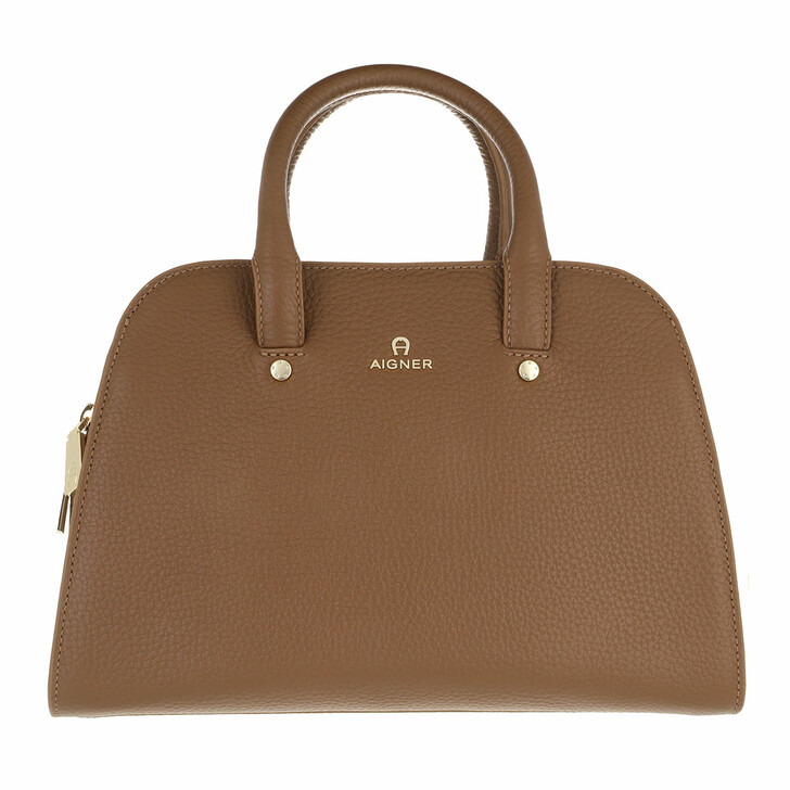 bags, AIGNER, Ivy Mini Bag Dark Toffee Brown