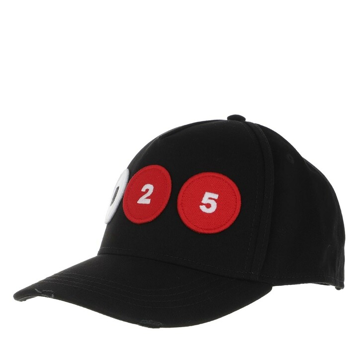 hats, Dsquared2, 25th Anniversary Collection Baseball Cap Black
