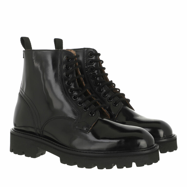 shoes, Ted Baker, Wfb Mascy Leather Chunky Lace Up Ankle Boot Black