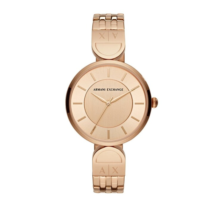 Uhr, Armani Exchange, Three-Hand Stainless Steel Watch Rose Gold