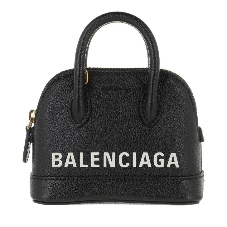 Handtasche, Balenciaga, Mini Top Handle Bag Leather Black White