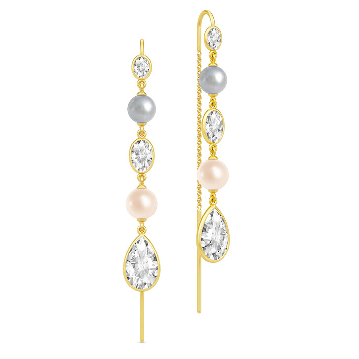 Ohrring, Julie Sandlau, Cinderella Chandeliers Earrings Gold