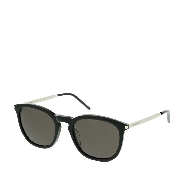 Sonnenbrille, Saint Laurent, SL 360-001 53 Sunglasses Black-Silver-Black