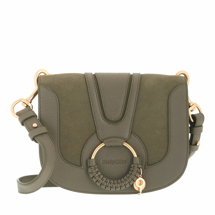 bags, See By Chloé, Hana Crossbody Suede Smooth Night Forrest