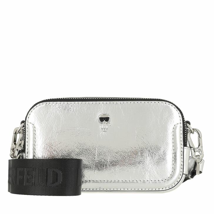 Handtasche, Karl Lagerfeld, K/Ikonik 3d Pin Camera Bag Silver