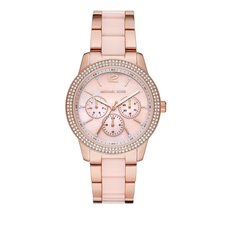 watches, Michael Kors, Women Tibby Multifunction Stainless Steel Watch Multicolor-Tone