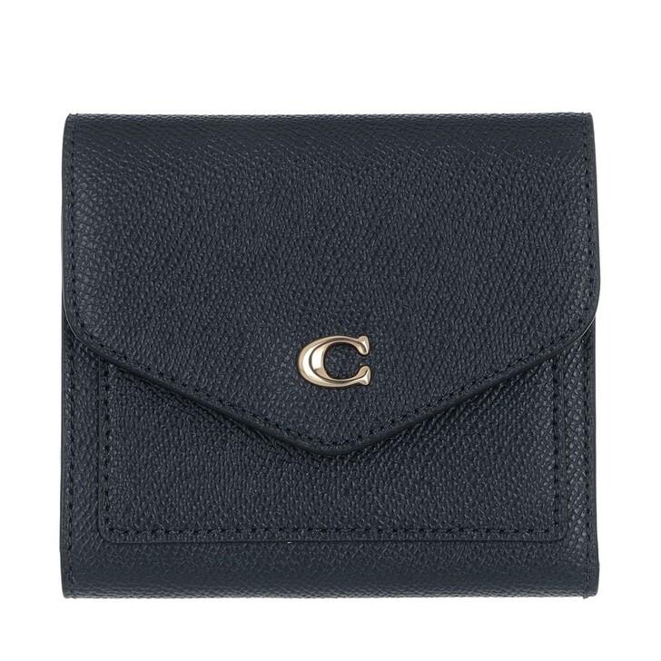 Geldbörse, Coach, Crossgrain Leather Wyn Small Wallet Navy