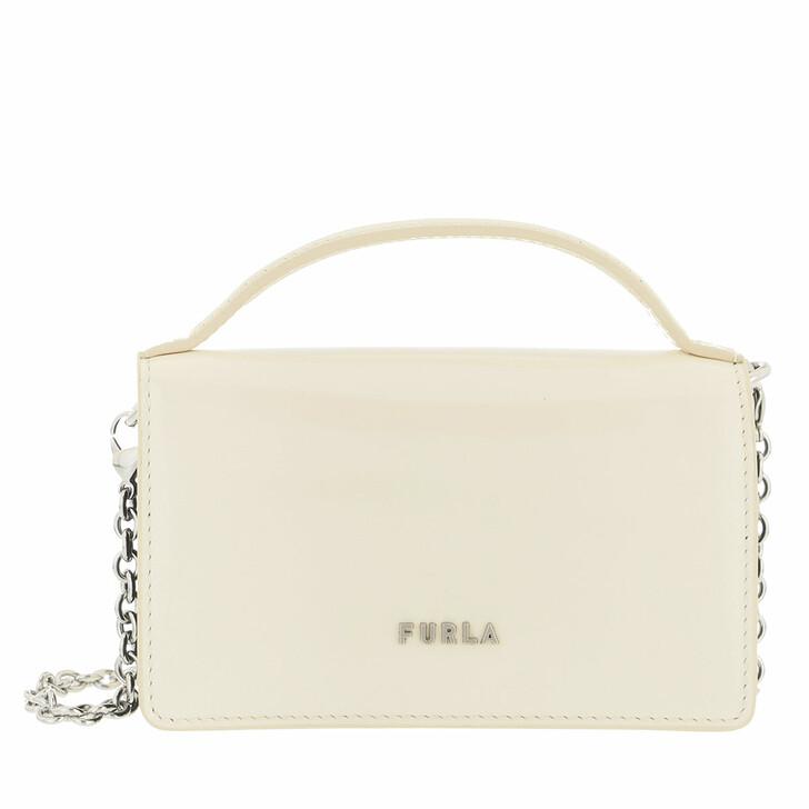 bags, Furla, Furla Splendida Micro Bag White Cotton+Nero