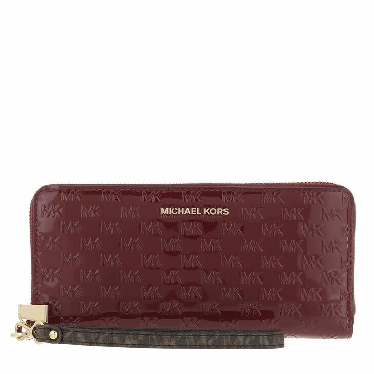 wallets, MICHAEL Michael Kors, Travel Continental Dark Berry
