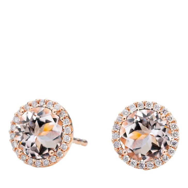 earrings, Capolavoro, Earrings Espressivo Morganite Faceted Rosegold