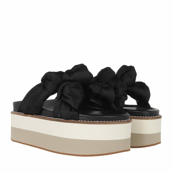 Schuh, GANNI, Knotted Flatform Black