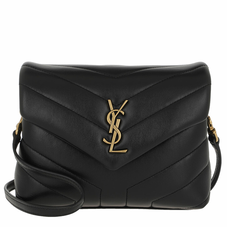 bags, Saint Laurent, Monogram LouLou Toy Bag Quilted Leather Black