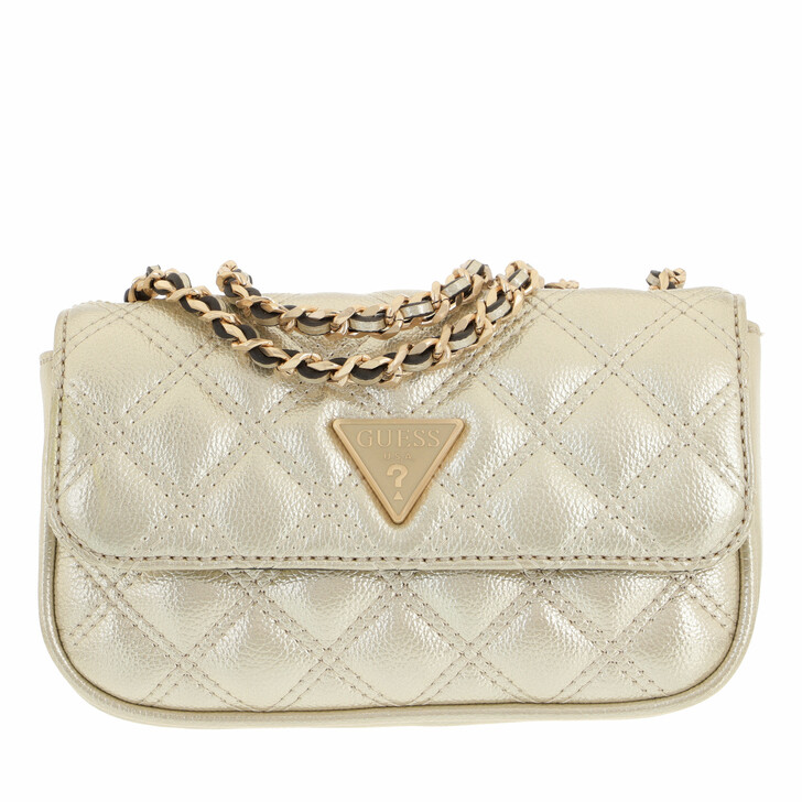 bags, Guess, Cessily Micro Mini Champagne