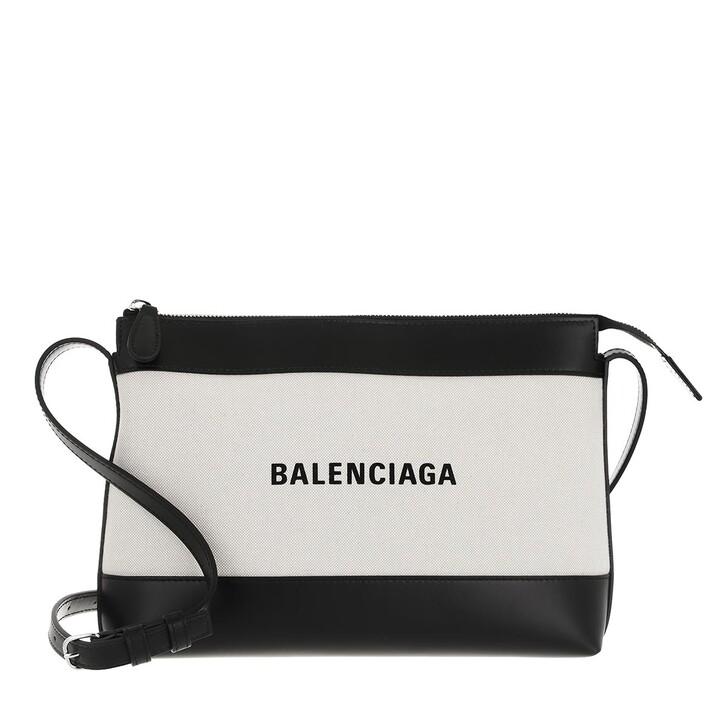 bags, Balenciaga, Navy Crossbody Bag Beige/Black