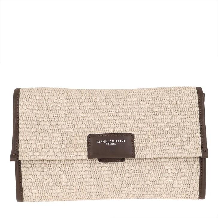 Handtasche, Gianni Chiarini, Marcella Paglia Shoulder Bag Naturale Arancio Fluo