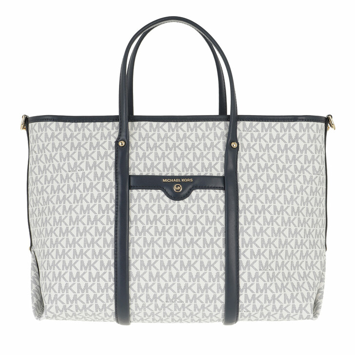 Handtasche, MICHAEL Michael Kors, Medium Conv Tote White/Navy