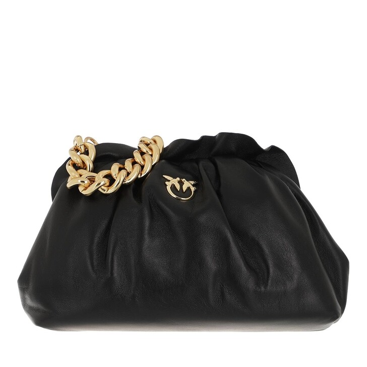 Handtasche, Pinko, Mini Chain Clutch Fraimed Chai Black