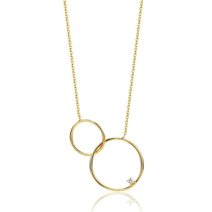 Kette, DIAMADA, 14KT (585) Diamond Necklace Yellow Gold