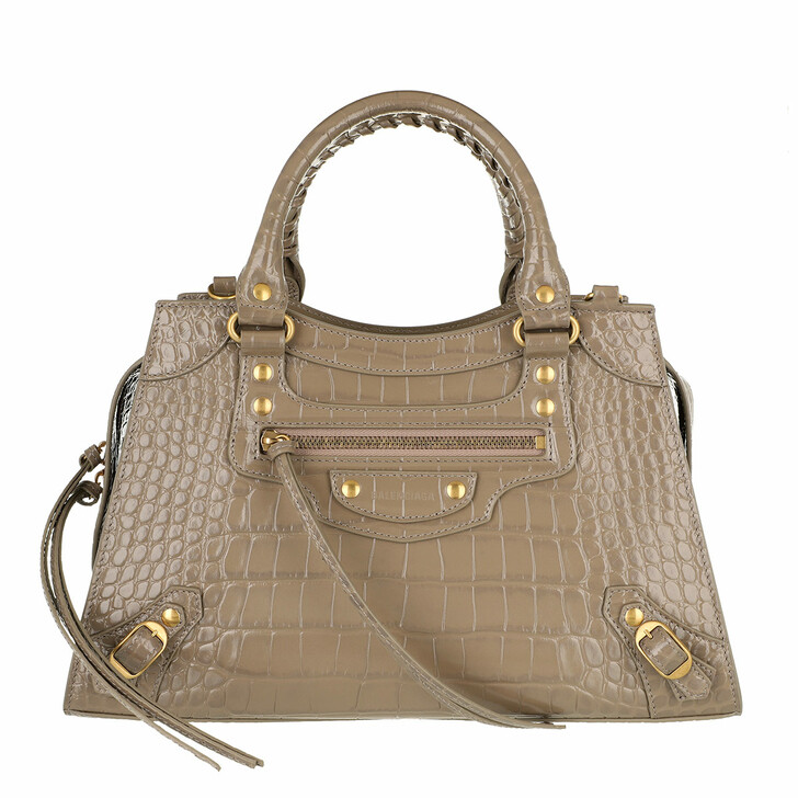 Handtasche, Balenciaga, Neo Classic Handle Bag Leather Mink Grey